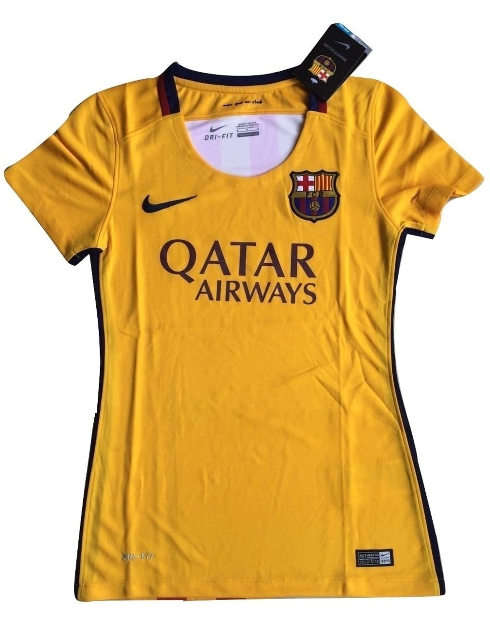 f5a153395be Get Quotations · Women s FC Barcelona 2015-2016 Away Soccer Jersey Yellow