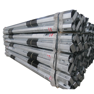 10m galvanized steel electrical pole for power transmission line