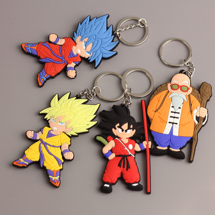 dragon ball wholesale gift items keychains,custom materials pvc soft rubber keychain