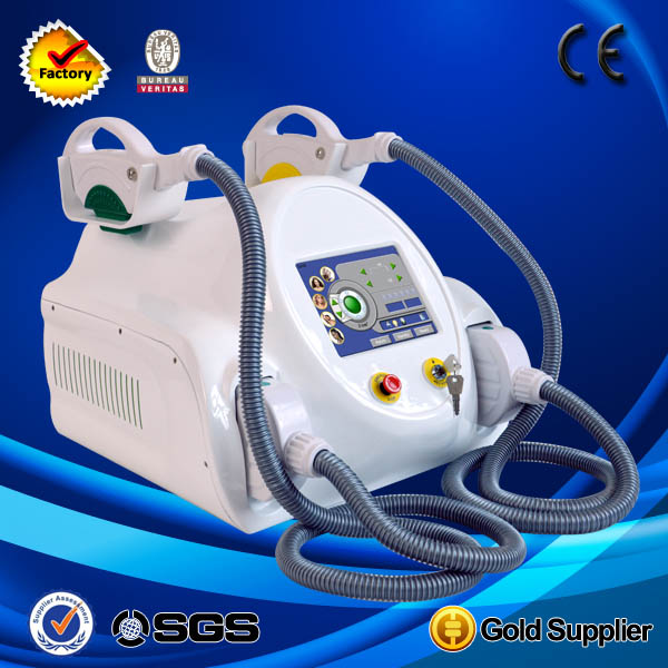 Most advanced and effective portable two handle laser ipl hair for six type hair removal machine