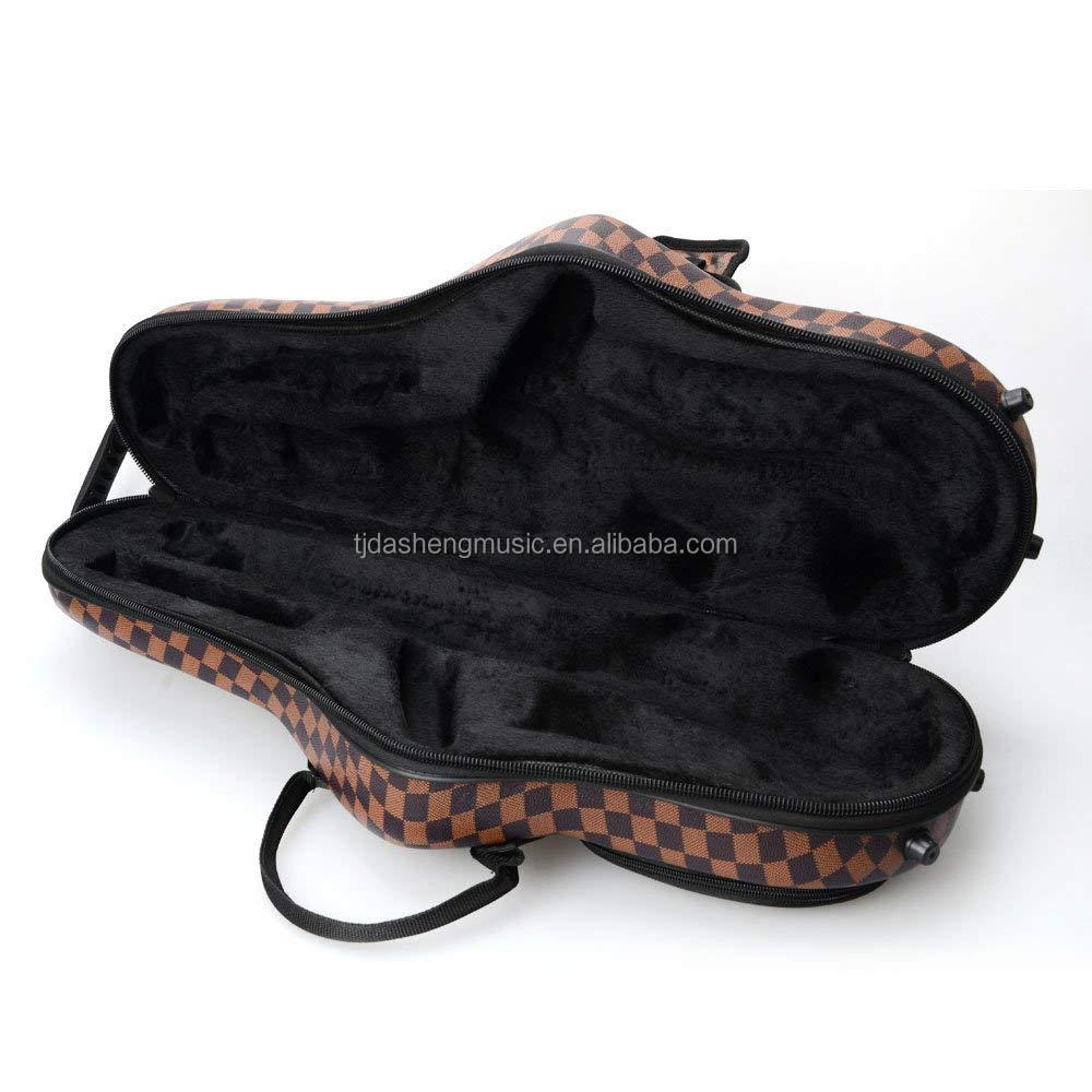 Coffee Color with Leather Surface Cloth Alto Saxophone Bag