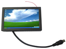 7 inch 16:9 touch screen monitor for machine, open frame metal case.USB VGA input monitor.