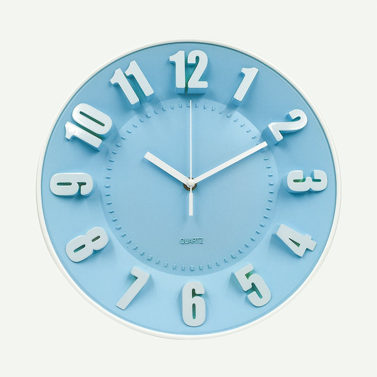 Buy Hippih 12 Inches 3d Numerals Modern Round Plastic Wall Clock