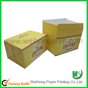 new dongguan factory recycled custom printed fried chicken packaging box wholesale