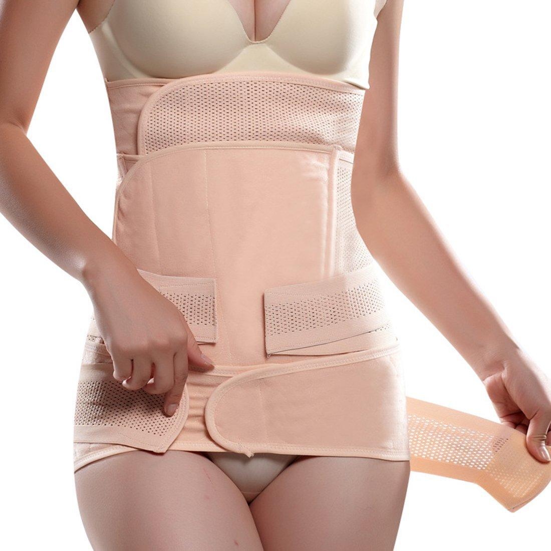 bd85a3e1afd Get Quotations · Women s Elastic Breathable Ventilation Postpartum  Postnatal Pregnancy Belt for Hips Waist Slimming Shaper Wrapper Abdomen  Support