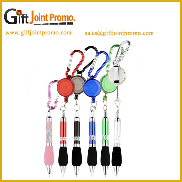 Advertising Mini Ballpoint Pen,Metal Carabiner Ballpoint Pen