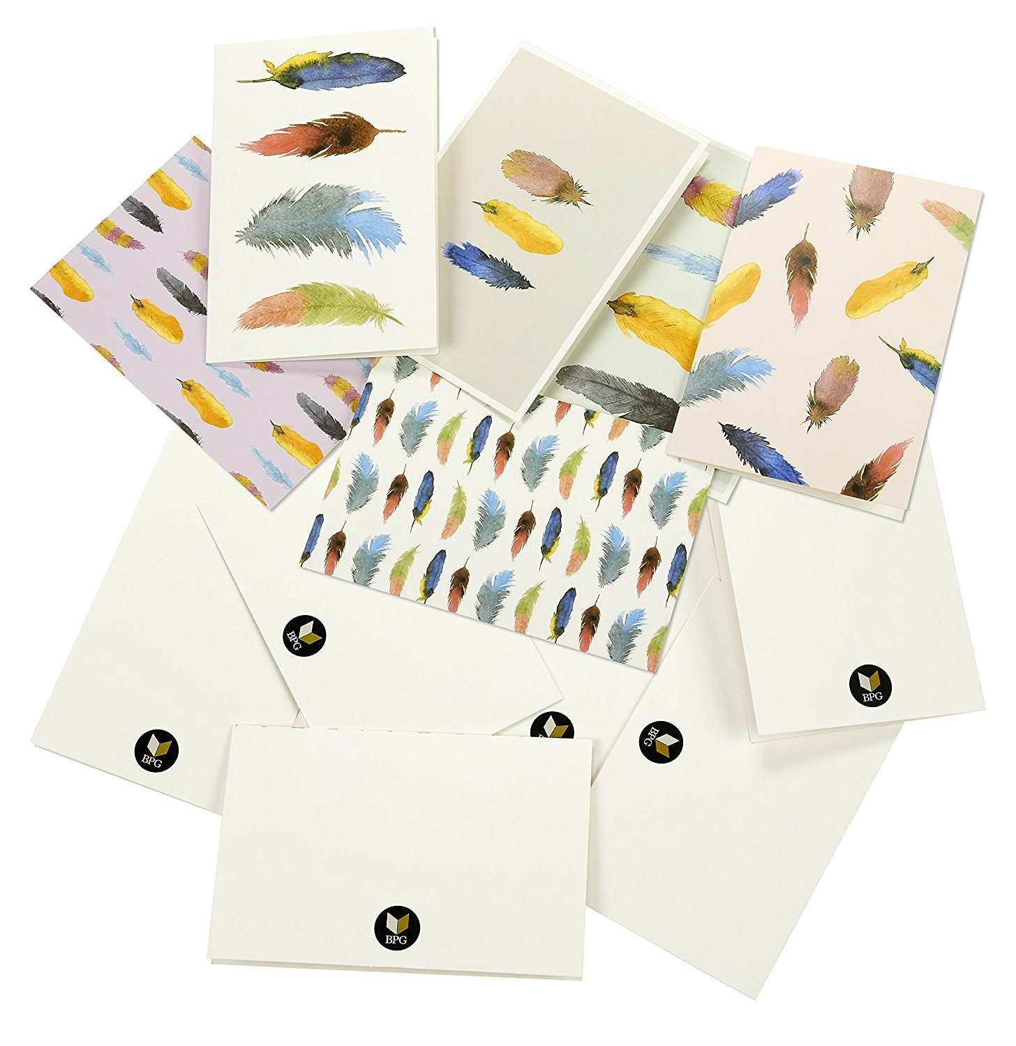 All Occasion Assorted Note Cards Greeting Card Bulk Box Set - Colorful Watercolor Designs