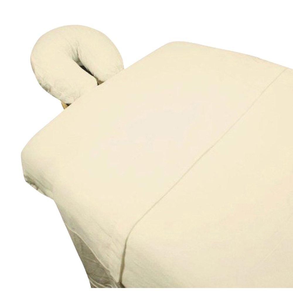 High Quality -3pc Microfiber Massage Table Sheet Set - Ivory