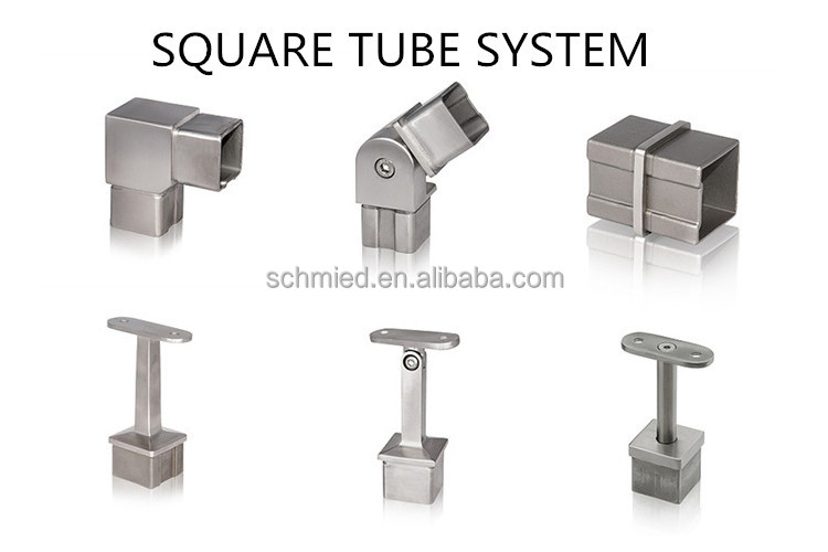 Stainless steel square fittings elbow fitting for