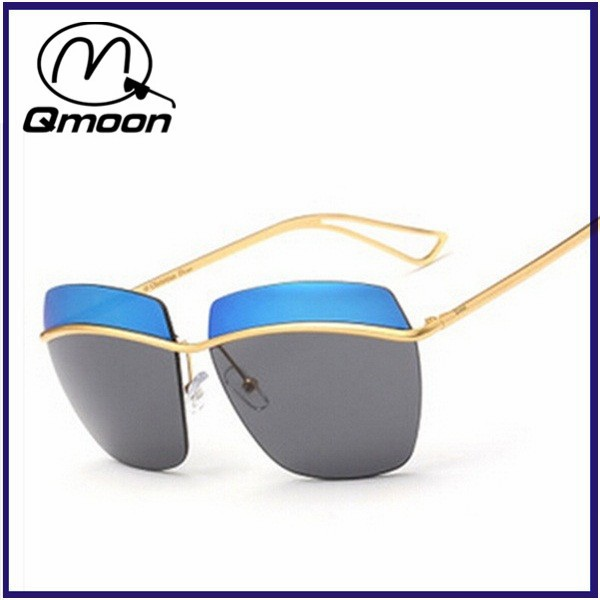 Double color lens hollow arm screen printed sunglasses with MOQ 300pcs