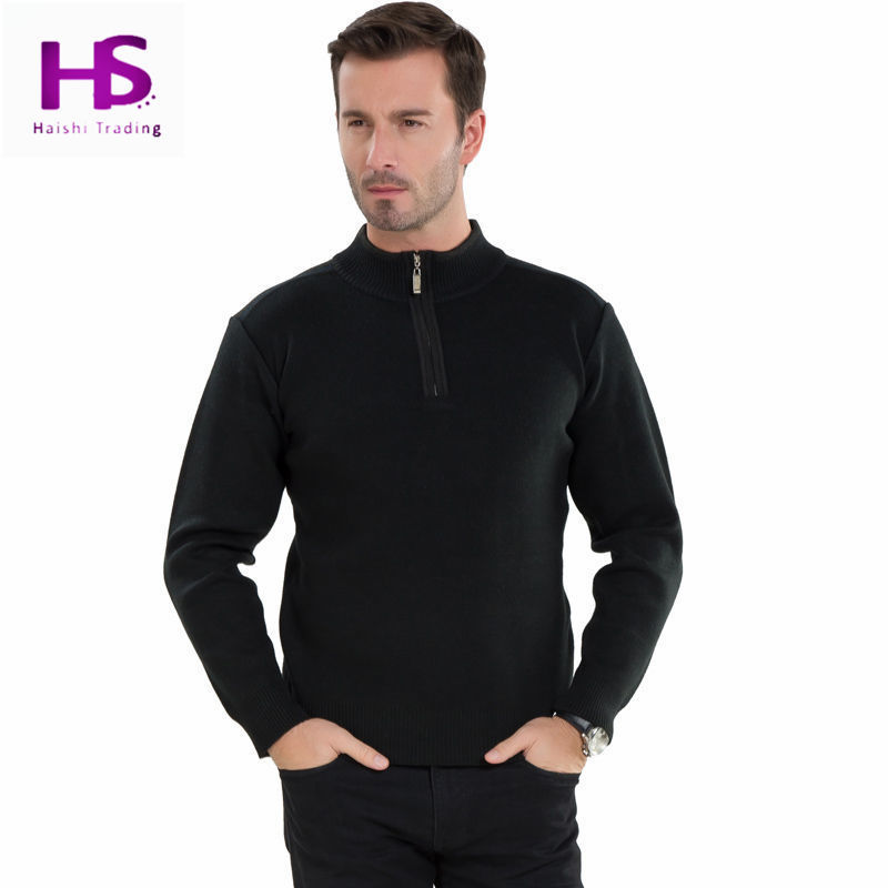 a78a08dc85340 Get Quotations · HS 2015 New Arrival Winter Heavy Sweater Men Zipper  Turtleneck Pullover Men Brand Thick Warm Knitted