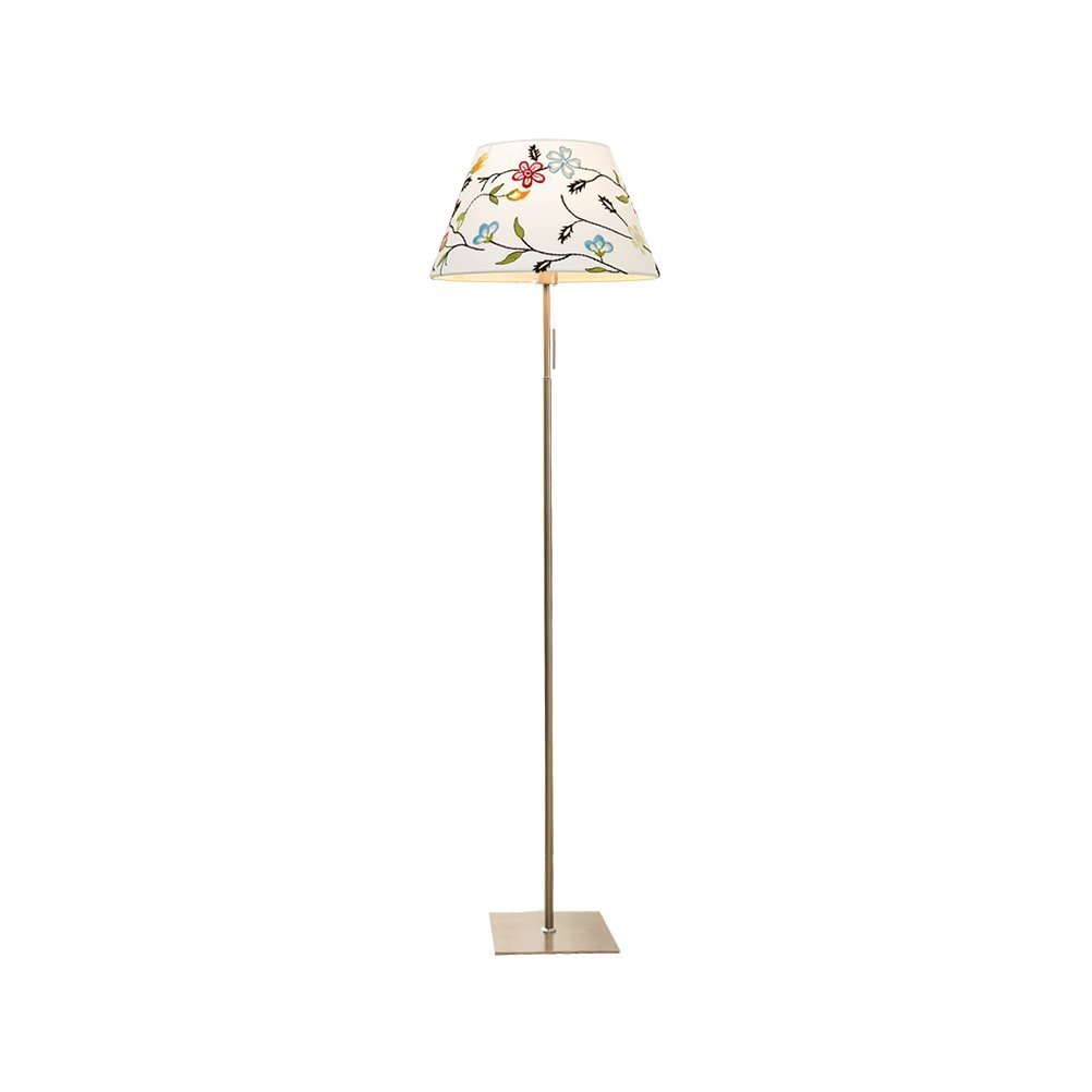 WAN SAN QIAN- E27 Classy Shade Lamp- Tall Pole Standing, Industrial Uplight Lamp For Living Room, Family Room, Den Office, Or Bedroom Floor Lamp