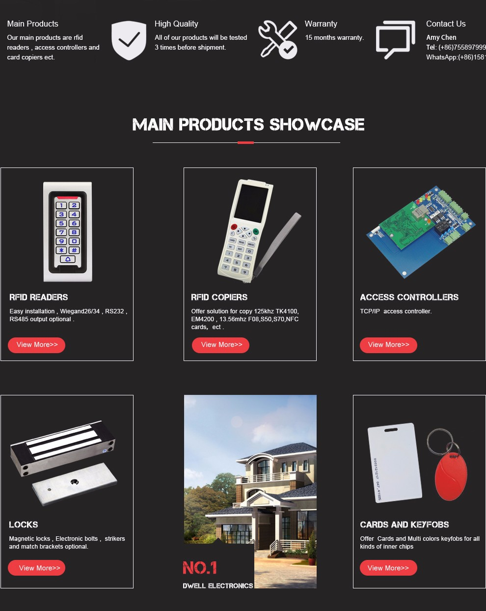 Shenzhen Dwell Electronics Co., Limited - Access control,Access ...