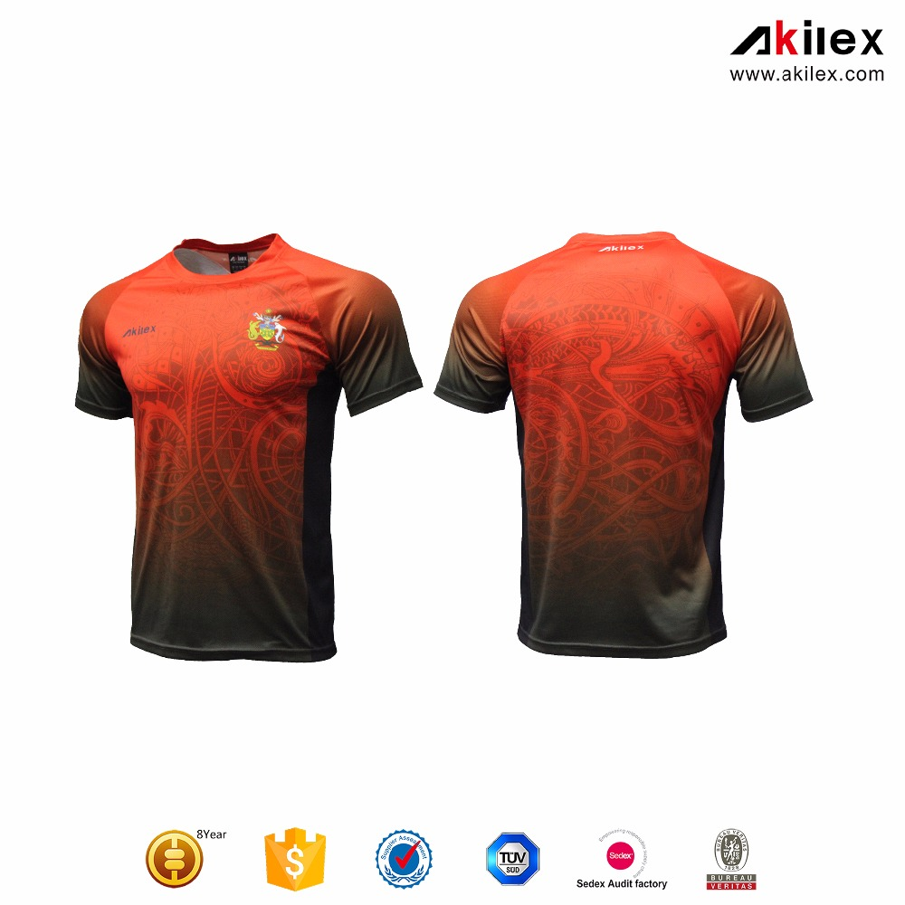 2017 high quality Comfortable sublimation mens Soccer Jersey/football shirts custom