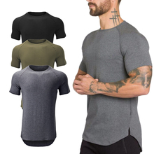 Men's Running Tights T Shirts Men Sport Tank Top Fitness Gym Athletic Shirt Short Sleeve Joggers Workout Gym Training Shirt