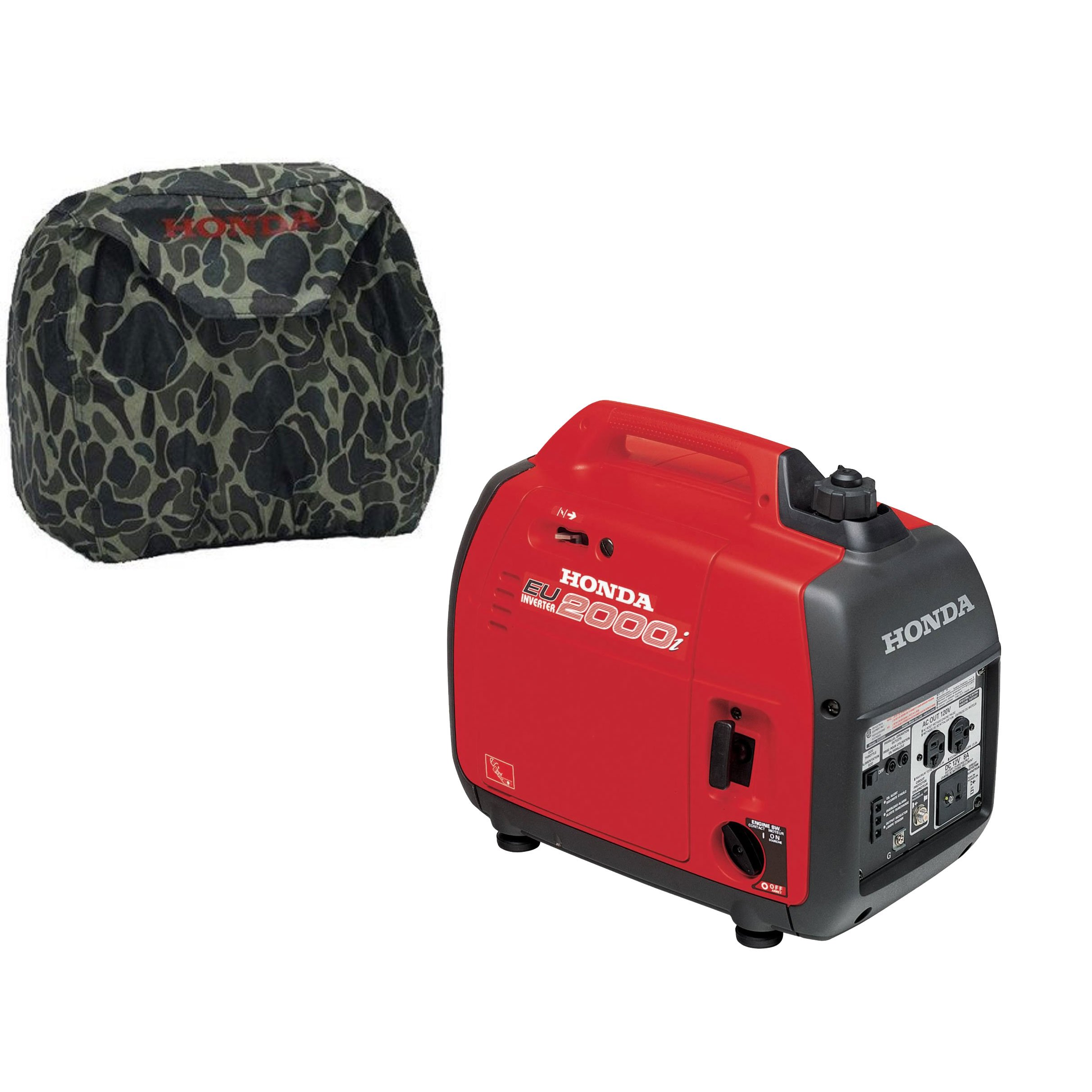 Get Quotations · Honda EU2000i Super Quiet 2000W Generator With Inverter,  Camo Storage Cover