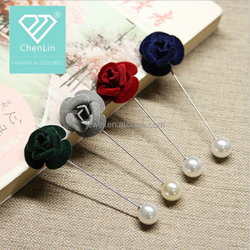 Clothes Decoration Brooch Pins Fabric Flowers Pearl Lapel Pin Buy Flowers Pearl Lapel Pin,Muslim Hijab Pins,Decoration Brooch Product on