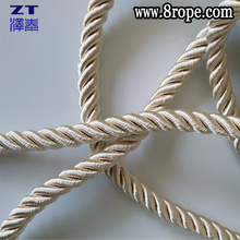 6mm twisted cord 8mm Milk white Polyester satin cord