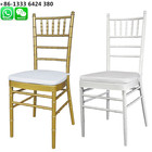Best selling gold white metal aluminum tiffany chair with PU leather cushion