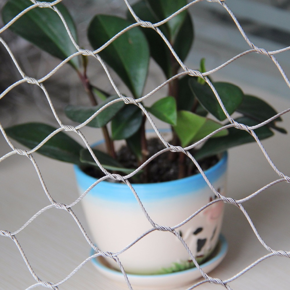 New Design Metal Rope Mesh Balcony Stainless Steel Wire Mesh Fence ...