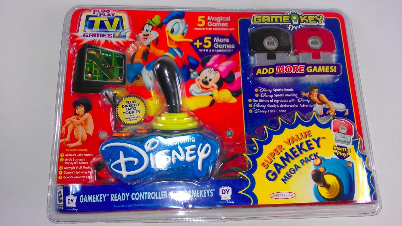 Disney Plug it in & Play TV Super Value Mega Pack with 2 extra Game Keys
