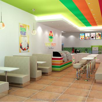 Factory Custom Ice Cream Interior Decoration Furniture Design
