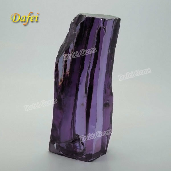 Beautiful Amethyst Cubic Zirconia Rough Gemstone