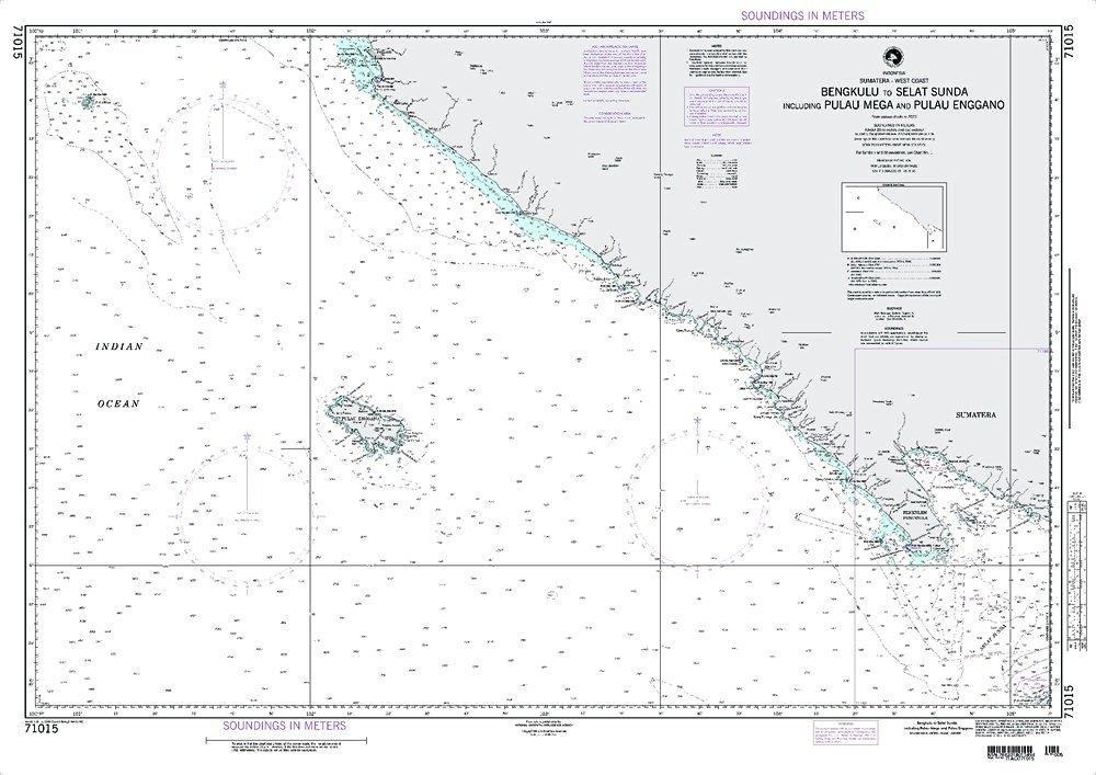 NGA Chart 71015: Bengkulu ToSelatSundaIncludingpulauMega AndPulauEnggano; 32 X 45; TRADITIONAL PAPER