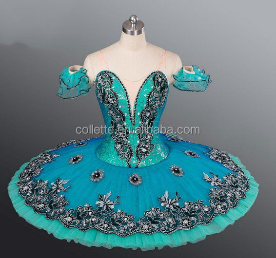 New !!!! BLY1055D !!! Adult green performance classical ballet pancake tutu dress stage tutu