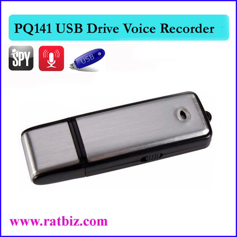 USB Sound Recorder - 8GB Voice Recording Device - Hidden Digital Audio Recorder - No Flashing Light When Recording PQ141