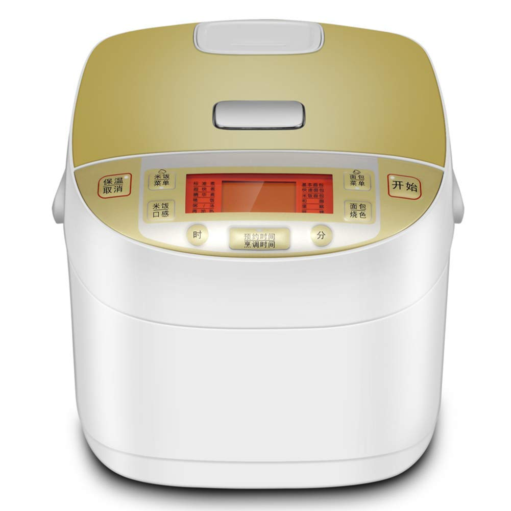 LJ-MBJ Household Automatic Breadmaker, Multifunction Bread Machine & Rice Cooker, Rice Bread 2 in 1, High Capacity, Plastic Bread Baking Machine-A