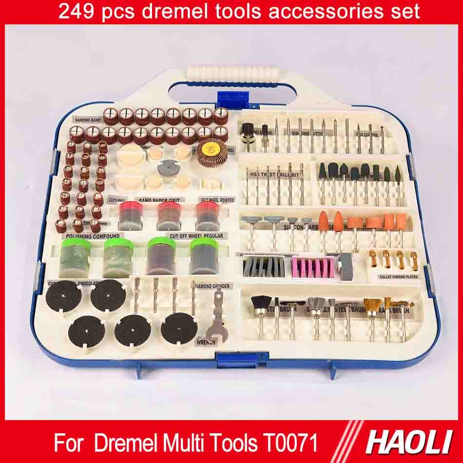 249pc dremel rotary tool accessory set for wood metal mold engraving rotary tool grinding polish. Black Bedroom Furniture Sets. Home Design Ideas