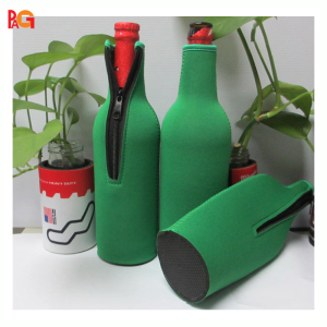 Neoprene Zip Stubby Bottle Holder/Single Beer Bottle Cooler for 12oz, 16 oz, 40 oz, 1L