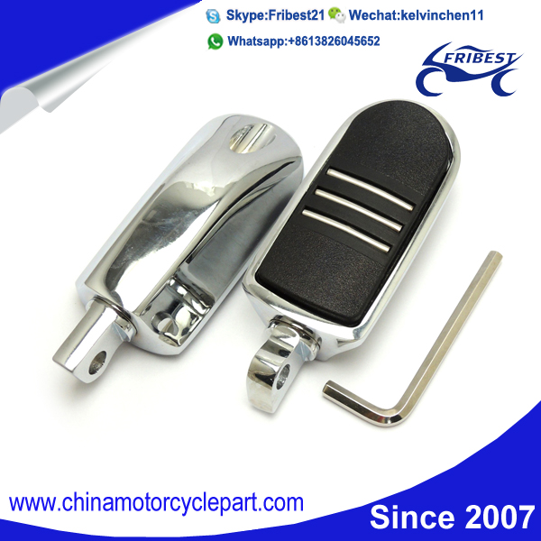FHADA104 Motorcycle Chrome Foot peg Passenger Footpegs Fit For FLH Touring FLST Softails