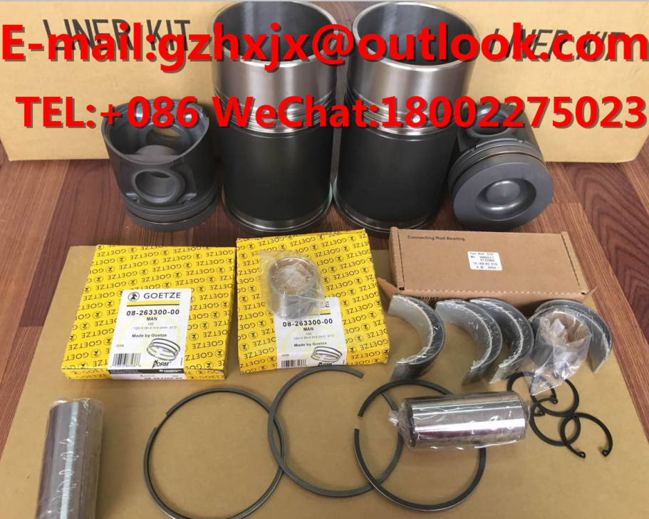Rebuild kit CYLIND LINER KIT PISTON RING GASKET KIT for Excavator Engine Parts PC350/360/400-6/7/8