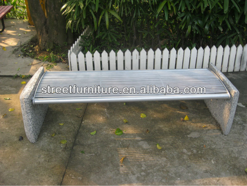 Backless Outdoor/garden Concrete Bench With Metal Seat Pan,Stone Benches  For Sale   Buy Stone Benches For Sale,Outdoor Concrete Bench,Backless Stone  Benches ...