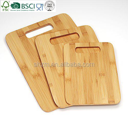 3 pieces Bamboo Cutting Boards - Large Medium Small Size Set Take Good Care of Your Chopping Knives and Kitchen Food