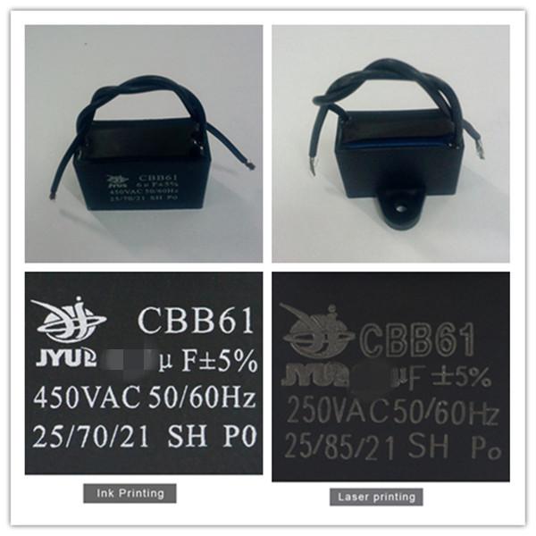 Cbb61 kondensator fan kondensator 450vac 1,5 uf deckenventilator ...