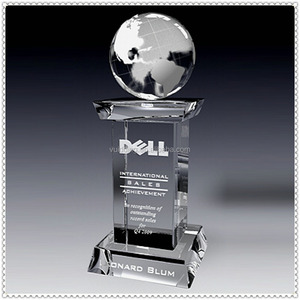Wholesale Crystal Square Worldwide Engraved Award For Promotion Favor Gifts