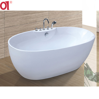ad-6601b cheap price oval bathtubs for one person luxury