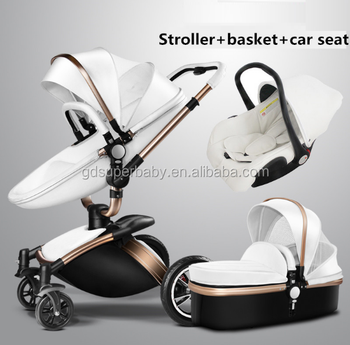 Brand Baby Strollers 3 In 1 Leather Baby Prame Europe Baby Strollers ...