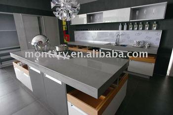Merveilleux Grey Quartz Stone Countertop