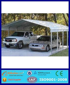 metal roof portable 2 car parking canopy tent garage outdoor  sc 1 st  Laizhou Hongshengda Machinery Co. Ltd. - Alibaba & metal roof portable 2 car parking canopy tent garage outdoor View ...