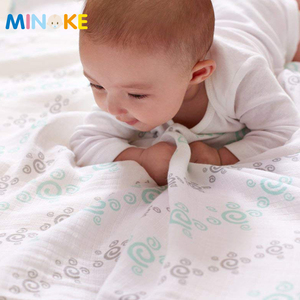 100% Cotton Bamboo Baby Muslin Blanket Super Soft Baby Receiving Blankets with gift box