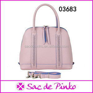 China pink handbag wholesale custom ladies leather handbag LB