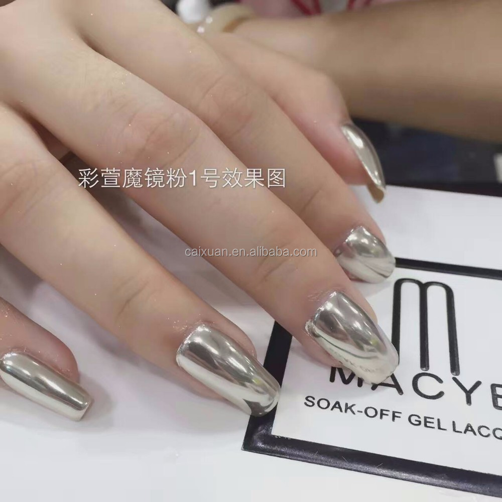 Caixuan Aurora Chrome Powder Series Nail Arts Design Gel Polish ...