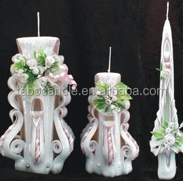 Hand Carved candles Unique handmade gift candle