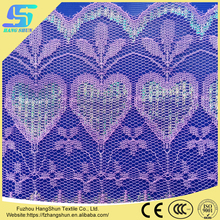 Wholesale 100% Polyester Cheap Colorful Silk Lace Trim Fabric