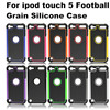 New Football Dot 3 in 1 Hybrid Silicone+PC Plastic Rugged Case Mobile Hard Back Cover For iPod Touch 5 5G 5th Gen Shockproof