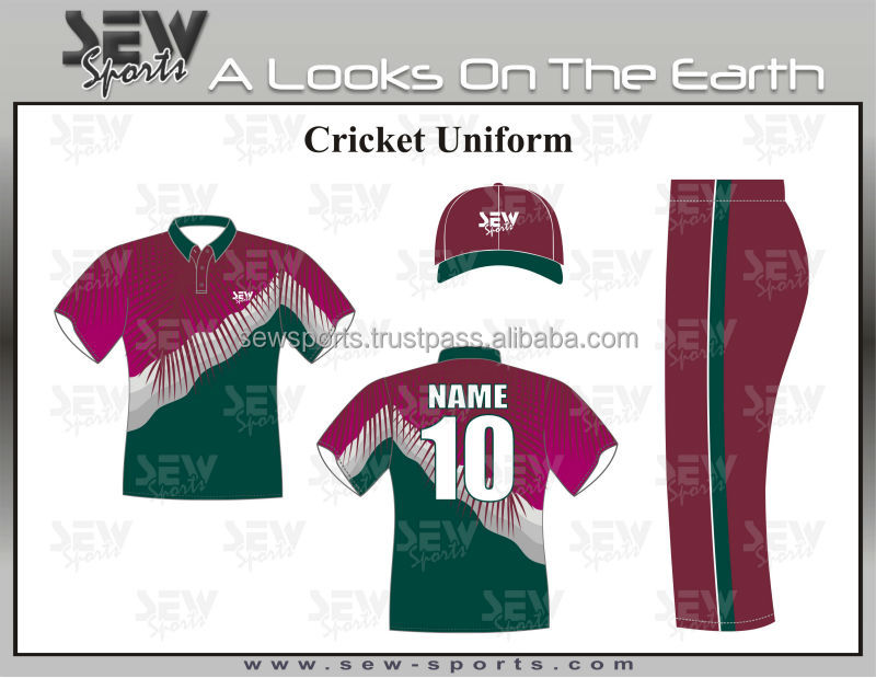Nice Designed Sublimated Cricket Uniforms By Sew Sports